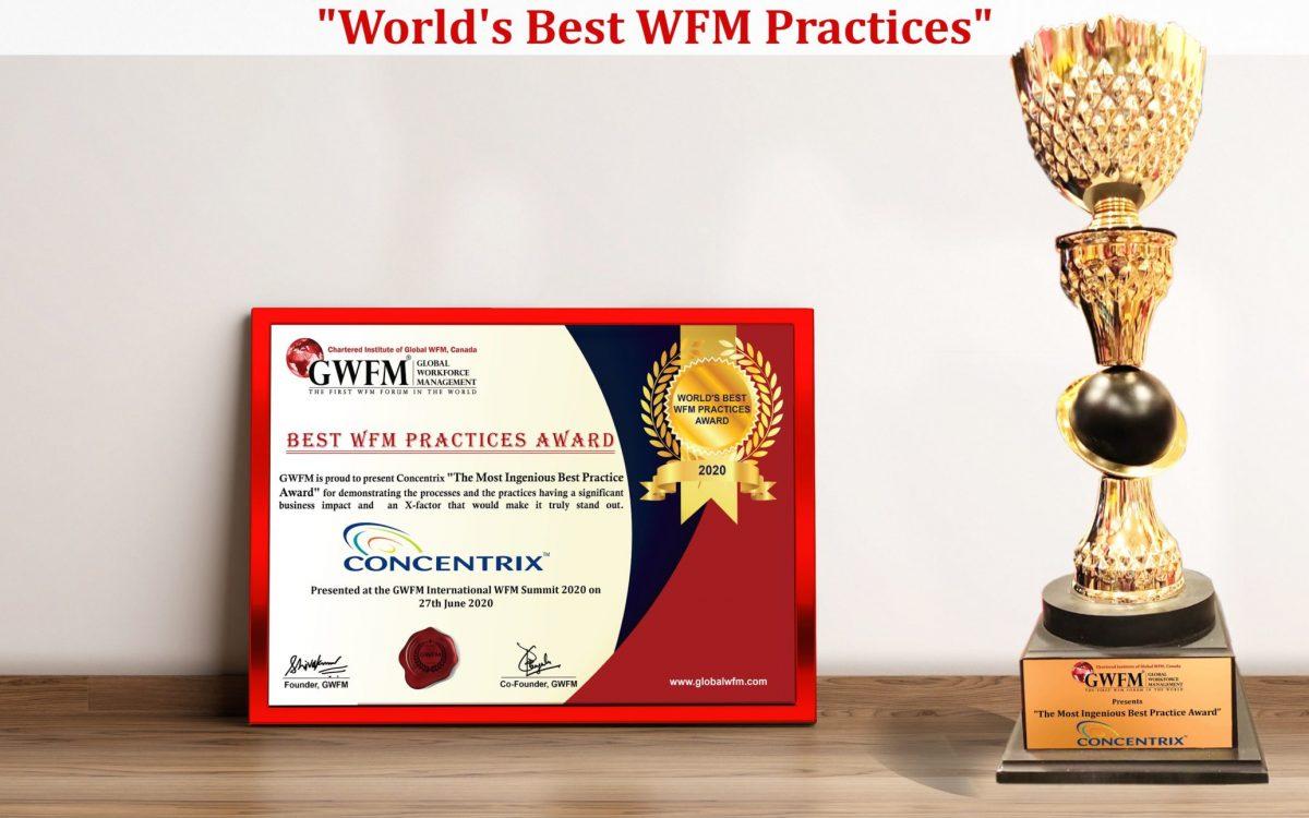 Concentrix Trophy Certificate